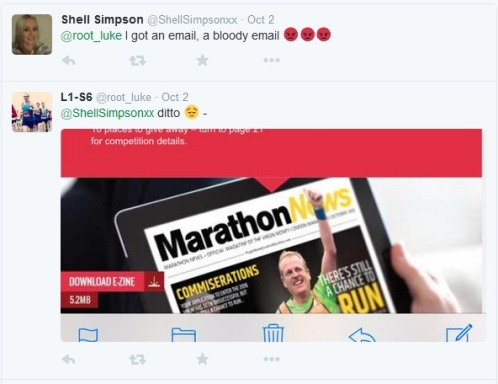 London Marathon Tweets