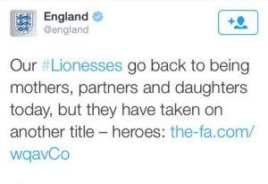 Patronising Lionesses Tweet