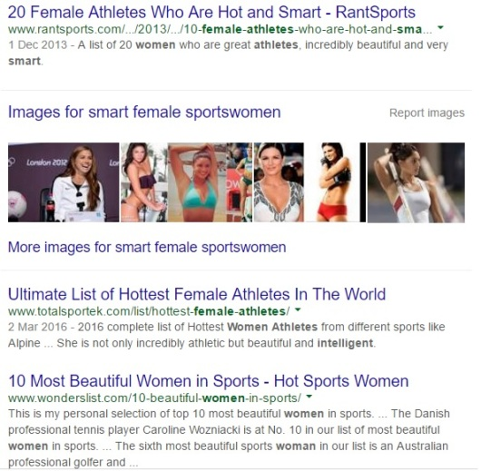 Smart Female Sportswomen